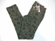 Vigoss Girls Knit Waist Skinny Pants Green Floral Size 6, 7, 8, 10, 12, 14 NWT