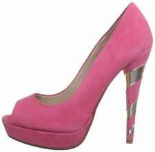 RRP £99 NEW DUNE SIZE 8 41 CERISE PINK GOLD DAYDREAM PEEP TOE COURT SHOES