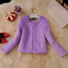 Women Faux Rabbit Fur Coat Jacket Winter Warm Cardigan Outerwear Padded Solid