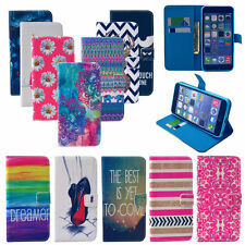 Card Holder Flip Stand Wallet Case Cover For Samsung Galaxy Leather Patterned