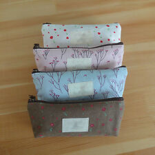 Vintage Flower Floral Pencil Pen Bag Cosmetic Makeup Storage Bag Case Purse QSP