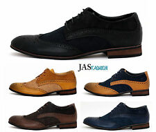 Mens Lace Up Smart Office Wedding Shoes Italian Dress Work Casual Formal Size UK