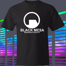 New Black Mesa Research Facility Video Game Men's Black t-shirt Size S to 3XL