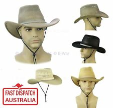 WESTERN WEST COSTUME PARTY COWBOY SUN MESH VENTILATION VENT HAT chin straw