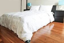 """Triumph Hill"" White Goose Feather and Down Comforter with 2 Pillows Deluxe Set"