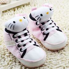 Toddle Infant  baby Boy Girl pink Soft Sole crib Shoes Sneaker size 0-18 months
