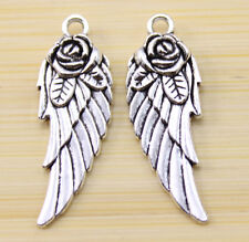 20/40/100 pcs very lovely  Tibet silver  roses wings charm pendant 31x11 mm