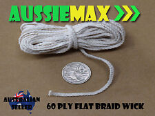 60 Ply 100% Natural Cotton Candle Wick Various Lengths