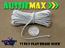 72 Ply 100% Natural Cotton Candle Wick Various Lengths
