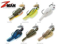 ZMAN LURES CHATTERBAIT PROJECT Z SERIES EZ SKIRT MUSTAD HOOK SELECT SIZE COLOR