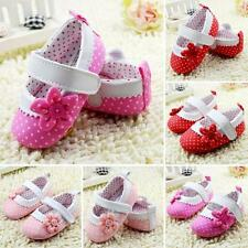 New Infant Toddler Baby Girls Floral Prewalker Soft Casual Sole Crib Shoes 0-18M