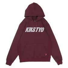 KIKS TYO 2015 Classic Logo Hoodie Sweatshirt Burgundy size XL from Japan