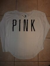 """VICTORIAS SECRET PINK LONG SLEEVE SCOOPNECK """"PINK"""" THERMAL NWT"""