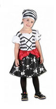 Girls punk pirate girl dressing up costume book day kid's party dress up outfit