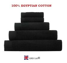 Genuine 100% Egyptian Cotton Face Cloth Guest Hand Towel Bath Sheet Towels BLACK
