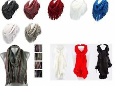 Women High Fashion Trendy Loose Knit Scarf (Choose Your Color)