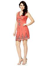 BNWT Ladies Gatsby dress Coral Dress Top Evening 1920's Shift Dress Size 8 to 20