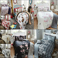 5Pc Bed In Bag Duvet Cover With Pillow Case Bed Runner and Cushion Cover Bedding