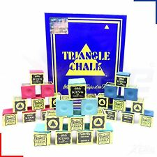 Triangle Snooker Pool Billiards Cue Chalk Green, Red or Blue 1 - 144 Cubes