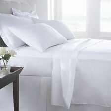 1500TC HIGH QUALITY WHITE SOLID BEDDINGS 100% EGYPTIAN COTTON ALL SIZES!!!