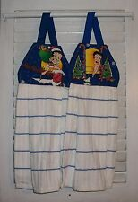 Betty Boop Pudgy Christmas Santa Hanging Kitchen Oven Dishtowel  HCF&D