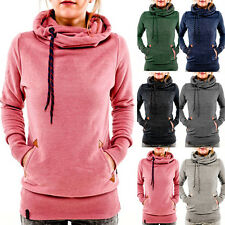 Women Pocket Hooded Sweatshirt Long Sleeve Hoody Hoodie Pullover Jumper Coat Top
