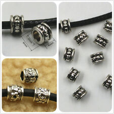 Tibet Silver Alloy Spray Spacer Beads Jewelry Crafts DIY big hole beads