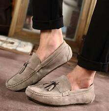 Stylish men casual tassels Suede leather slip on loafer Moccasin driving  shoes