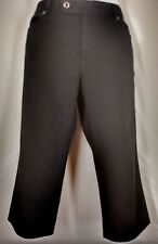 TALBOTS Womens EUC Black Travel Stretch Capri 5 Pocket Pants Size 12 Petite 12P