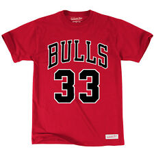 Scottie Pippen Chicago Bulls Mitchell & Ness NBA Name & Number T-Shirt – Red