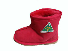 Australian Made Genuine Sheepskin Kids Mini Ankle UGG Boots Red Colour