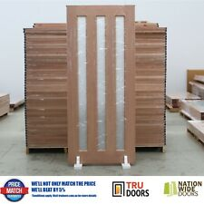Vertical Glass Solid French Timber Doors Bush Fire BAL / Non-BAL Rated Entry