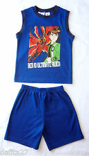 Boys Ben 10 Pyjamas Pjs Licensed Sleepwear Blue Size 3,4,5,6,7 Brand New!!!