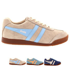Ladies Gola Harrier Suede Lace Up Sporty Active Casual Retro Sneakers All Sizes
