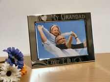 Personalised Silver Plated Heart Photo Frame Grandad, Grandpa, Fathers Day Gift