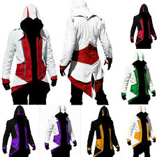 Stylish Creed Hoodie Zipper Cool Slim Men's Cosplay For Assassins Jacket Costume