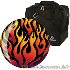 Bowling Ball Brunswick Flame Polyester 10 - 15 lbs Bowling Ball with motif