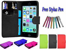PU Leather Side Open Book Flip Wallet Holder Case Cover For Apple iPhone 6S UK