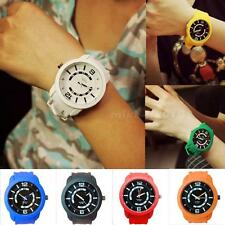 Women Men Silicone Candy Color Neutral Watches Analog Sports Wrist Watch MKLG