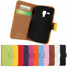 Wallet Leather Case Cover For Samsung Galaxy S Duos GT-S7562