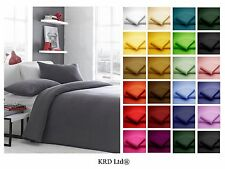 High Quality Plain Dyed Flat Sheet Poly-Cotton Bedding Bed SINGLE DOUBLE KING