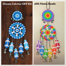 1pc Dream Catcher Windbell DIY Kit with Hama Perler 5mm Fuse Beads Kid Crafts