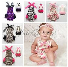 New Baby Girl Lace Halter Ruffles Romper One-piece Kids Birthday Outfit Jumpsuit