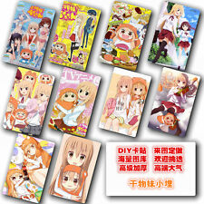 5.4x8.5cm Anime Card Stickers of Himouto! Umaru-chan 10pcs/set ID card stickers