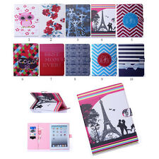 Flip Pattern Leather Case Stand Screen Protector Cover Case Book For iPad Tablet