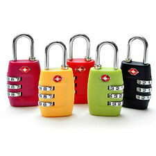 New TSA Resettable 3 Digit Combination Travel Luggage Suitcase Lock Padlock MKLG