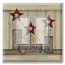 Light Switch Plate Cover COUNTRY BARN STAR LIVE LOVE  w/ Rocker Switch or Outlet