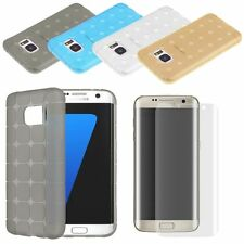 Shockproof Silicone TPU GEL Case Cover & Curved Flim For Samsung Galaxy S7 EDGE