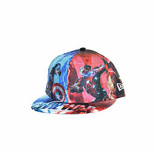 New Era 59Fifty All Over Captain America Civil War Fitted Hat Cap Multi 80286450