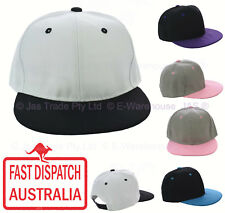 Snapback Snap Back Hip Hop Flat Peak Brim Bill Visor Baseball Two Toned Cap Hat